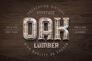 Oak Lumber Font - Display - 1
