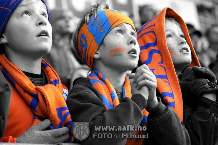 Watching a  football  match in Aalesund Norway (Team AaFK).