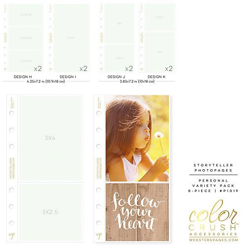 WEBSTER'S PAGES: Personal Planner Photo Sleeve Pages (Variety Pack)