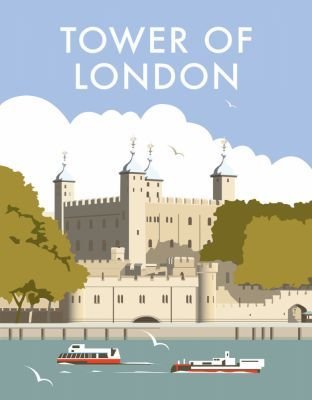 Tower of London. By illustrator, Dave Thompson wholesale fine art print