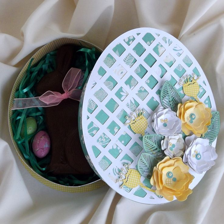 43 best pazzles holidays easter crafts images on pinterest easter egg shaped gift box cutting files in svg and wpc this is a grown up easter basket idea that can be refilled year after year negle Gallery