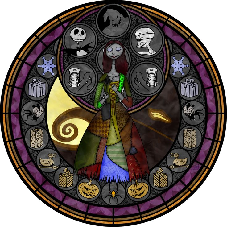 Stained Glass: Sally by Akili-Amethyst.deviantart.com on @deviantART