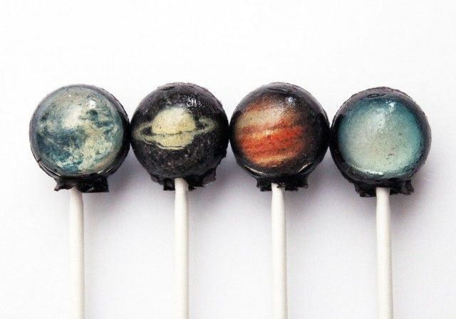 Solar system lollipops!