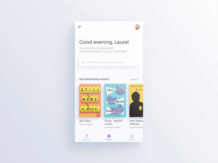 Books App Concept #02 by Jae-seong, Jeong