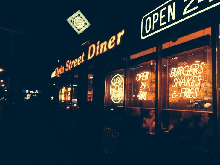 Elgin Street Diner, located downtown, is perfect for a late night meal!