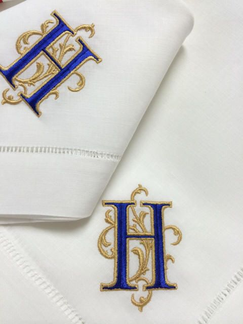 Signature Venezia Monogramed Napkins, Placemats and Guest Towels