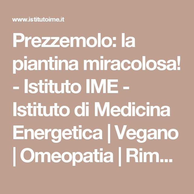 Prezzemolo: la piantina miracolosa! - Istituto IME - Istituto di Medicina Energetica | Vegano | Omeopatia | Rimedi naturali | Benessere | Vegetariano