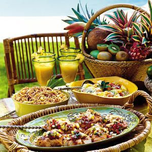 From Southern Living: Plan a Poolside Luau  Dive into good times with our tropical--and doable--celebration.
