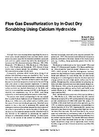 Flue gas desulfurization by in-duct dry scrubbing using calcium hydroxide - Rice - 2004 - AIChE Journal - Wiley Online Library