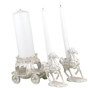 Amazon.com: Hortense B. Hewitt Wedding Accessories, Unity Candle Stand, Once Upon a Time, 3 Pieces: Home & Kitchen