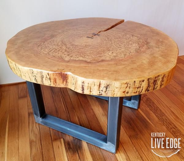 Round Coffee Table Live Edge Industrial Tree Slice Log Rustic Furniture Living Room Side Table End Table Natural Wood Maple Slab Coffee Table Live Edge Coffee Table Rustic Side Table