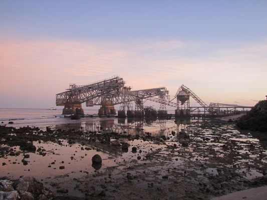 mining for phosphate in the South Pacific island nation of Nauru