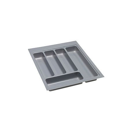 B&Q Grey Stainless Steel Effect Plastic Kitchen Utensil Tray | Rooms | DIY at B&Q