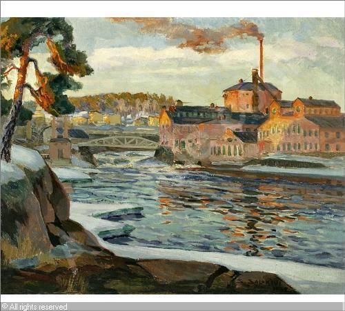 Kuusankoski sold by Hagelstam, Helsinki, on Saturday, December 02, 2006 Salokivi Santeri 1883 1940