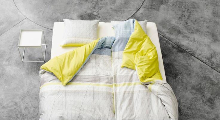 Duvet HAY Colour Block Yellow - HAY - BijzonderMOOI* Dutch design online