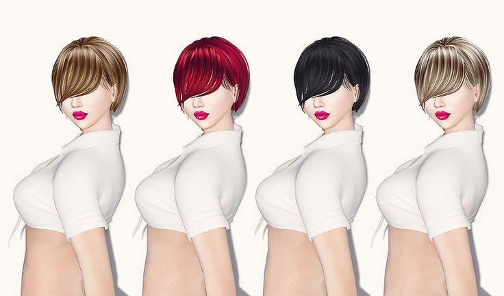 Xera Short Hair With Long Front Bangs 4