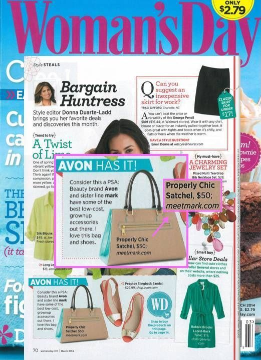 mark's Properly Chic Satchel featured in @Woman's Day! #fashion #accessories