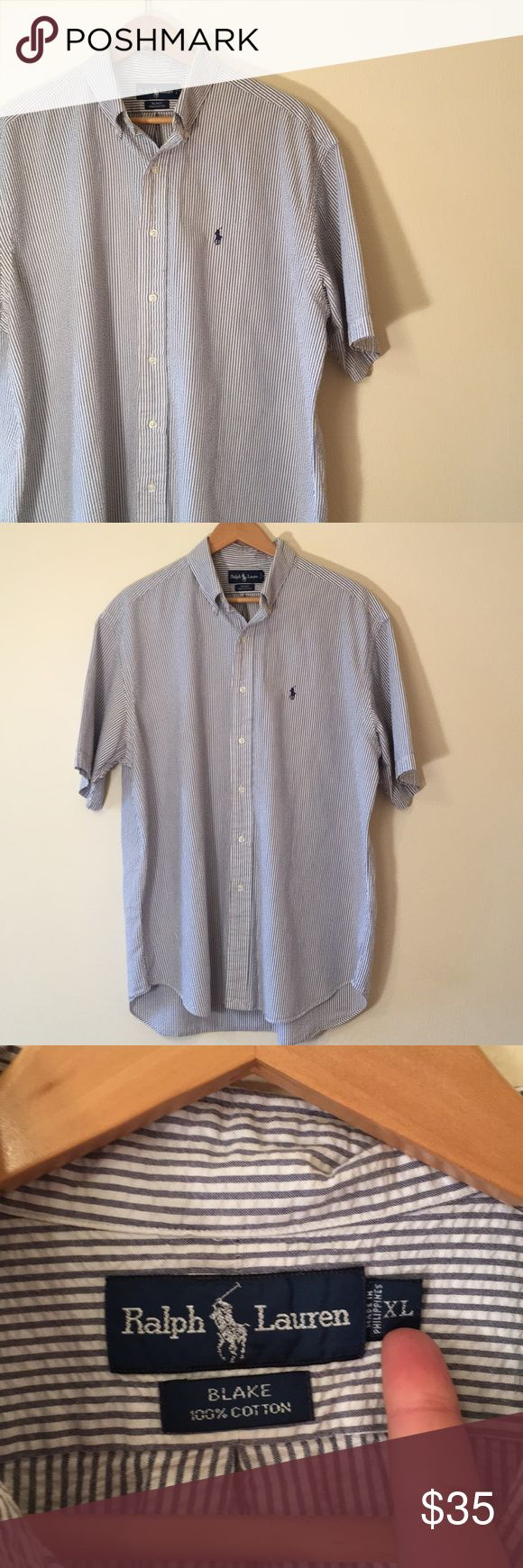 Ralph Lauren polo button down shirt Good condition, Ralph Lauren Blue Label polo shirt from the Blake Collection, shirt is a textured cotton fabric, 100% cotton, embroidered polo logo Ralph Lauren Shirts Casual Button Down Shirts