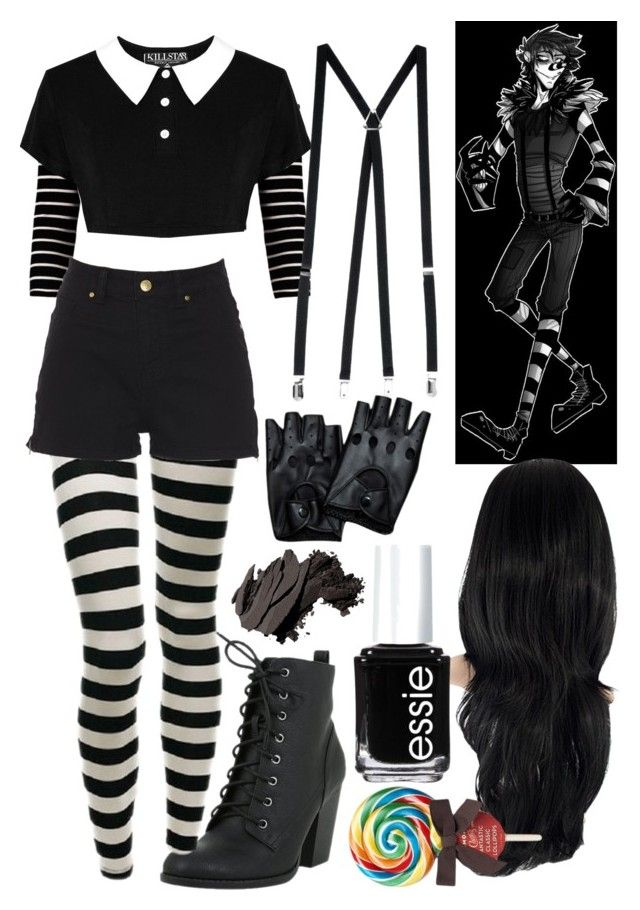 """Laughing Jack (Creepypasta)"" by thefnaftheorists ❤ liked on Polyvore featuring American Apparel, Bobbi Brown Cosmetics and Essie"
