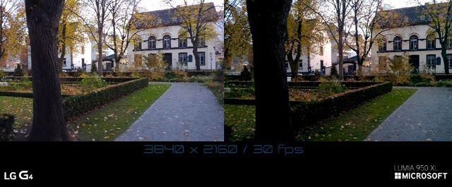 Camera Comparison 4K Video Microsoft Lumia 950 XL vs LG G4