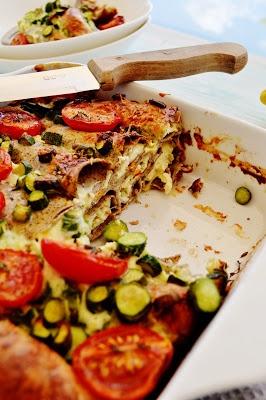 Cannelloni di grano saraceno con ricotta e fiori di zucchina al profumo di limone e timo