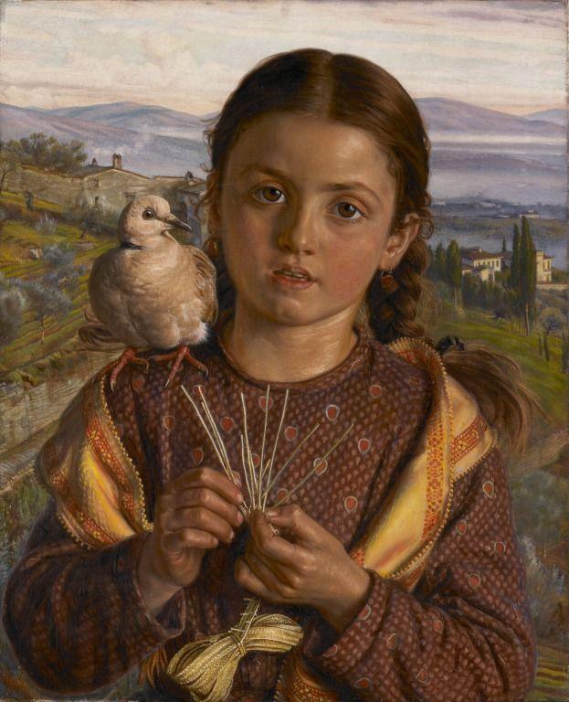 Уильям Холман Хант. Итальянское дитя (Тосканская девочка с соломенным плетением)
