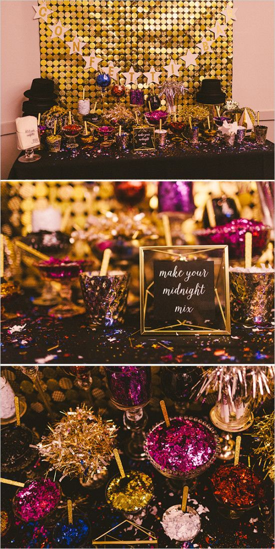 Glitzy Glam New Years Eve Wedding.  Find decorations at Afloral.com for your New Years Eve Wedding.