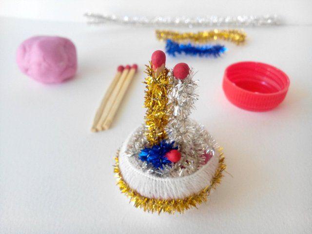 Bel n hecho con cerillas o bastoncillos de los o dos - Belen navidad manualidades ...