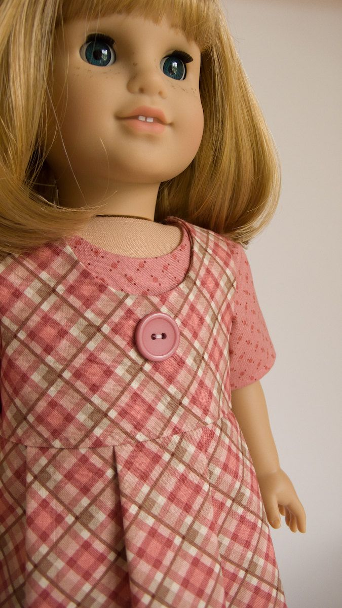 American girl 1930's pleated frock | American Girl Doll Clothes 18 Inch Doll Outfit Pleated Plaid Jumper ...