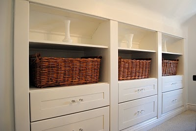 Shallow shelving at the bottom of the basement stairs? If I can't have another bathroom, maybe I can have beautiful shelving.