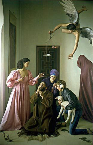 A605   Claudio Bravo   Temptation of St Anthony   1984   Painting   Oil on canvas   Museo Nacional de Bellas Artes   Santiago, Chile