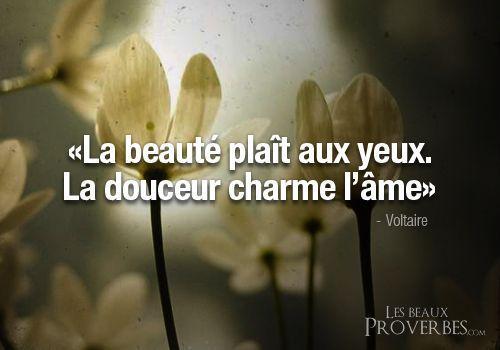 Inspirational Quote: Les Beaux Proverbes  Proverbes citations et pensées positives