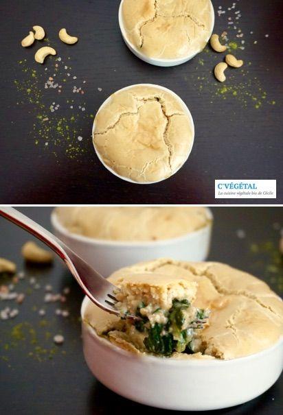 Gratin d'épinards en croûte « fromagère » // Spinach casserole with « cheesy » crust - C'Végétal