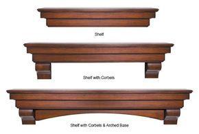 Salem - Wood Mantel Shelves - Fireplace Mantel Shelf - MantelsDirect.com