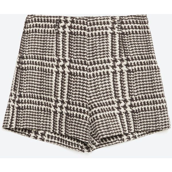 Zara Checked Bermuda Shorts ($30) ❤ liked on Polyvore featuring shorts, bottoms, bermuda shorts, zara shorts and checkered shorts