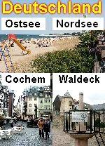 Deutschland: Niendorf, Timmendorf, Lübeck, Schwerin (Ostsee), Cochem (Mosel), Korbach/Edertal (Waldecker Land)