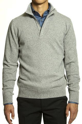 Corneliani Men's Grey Pullover Sweater | The Helm Clothing | Edmonton, AB