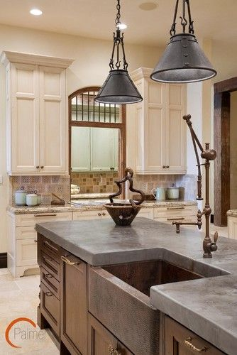 Cement countertops are a beautiful, affordable option to granite. #bedifferent