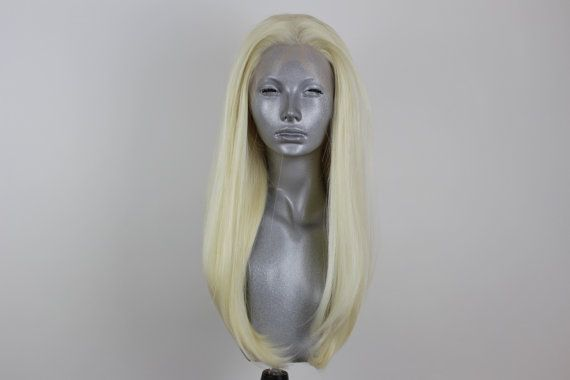 Zara Platinum Blonde Lacefront Wig by WebsterWigs on Etsy