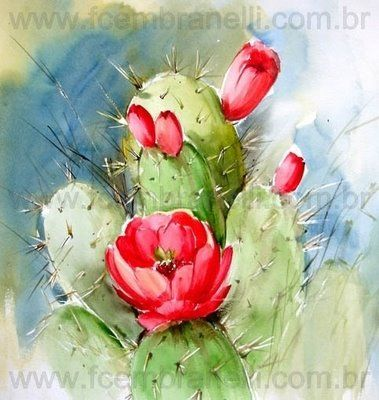 love this cactus watercolor