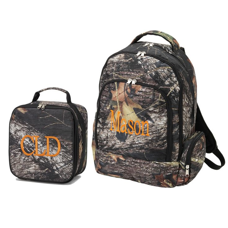 Personalized Matching Boys Backpack & Lunch Bag Natural Camo