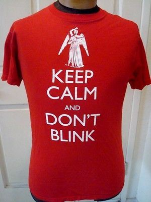 Dr. Who Keep Calm and Don't Blink T Shirt Medium
