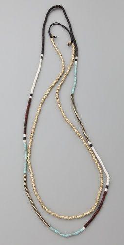 Shashi ❤ Zen Golden Nugget Necklace