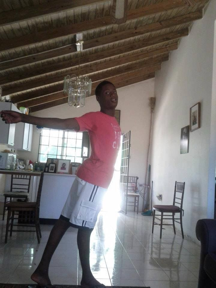 This undated photo provided by Dwayne Jones' friend Jay via the Jamaica Forum for Lesbians All-Sexuals and Gays (J-FLAG) advocacy group, shows Dwayne Jones in an unknown location in Jamaica. Dwayne, who was nicknamed 'Gully Queen,' was a 16-year-old Jamaican who was savagely murdered by a mob in July 2013 just because they found out he was attending a street dance party in women's clothing. Sweet angel take flight away from this evil hate-filled world!