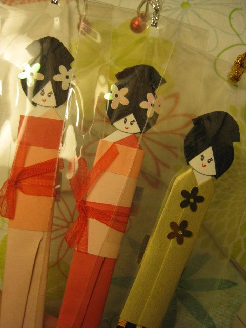 Balinese and Javanese Bookmark Dolls.. Set of 3.. by bila on Etsy