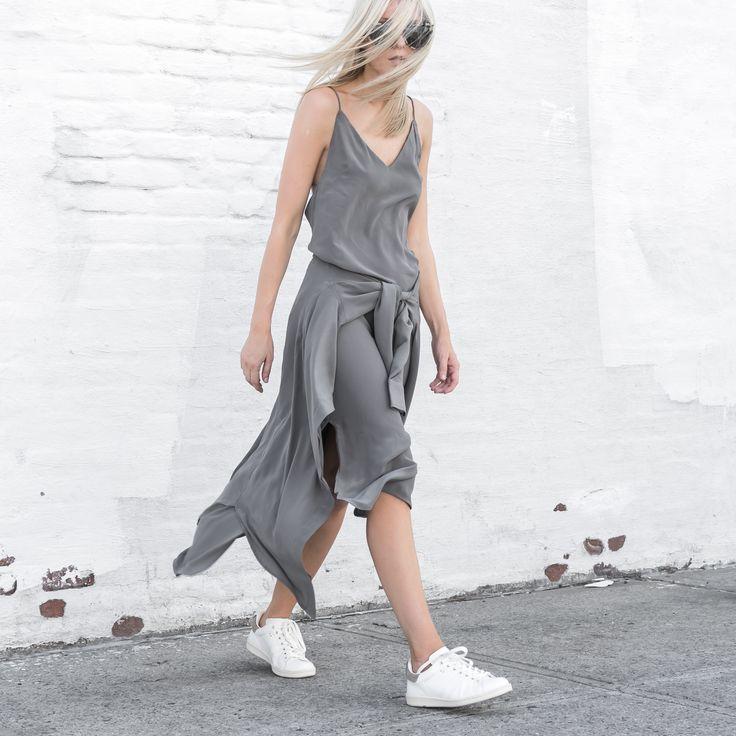 TF X FIGTNY   SPRING 16 COLLABORATION ATHLETICA SLIP DRESS #thirdform #figtny #minimal #urban #streetstyle #fashion #trend #clean #grey