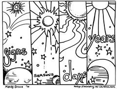 days of creation coloring pages books of the bible the lords prayer gospel