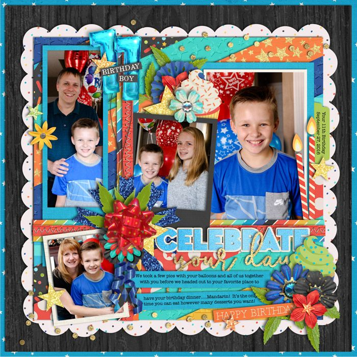 Used the following from the Sweet Shoppe:  Template - TrioPack 38: Magical Birthday Boy by Cindy Schneider  Believe in Magic : Magical Birthday Boy Collection by Amber Shaw and Studio Flergs