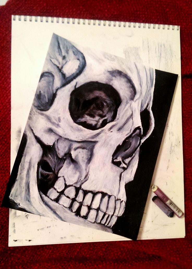 Oil Pastel Skull