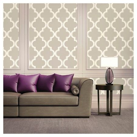 Devine Color Cable Stitch Peel & Stick Wallpaper- Lightning and Twig : Target